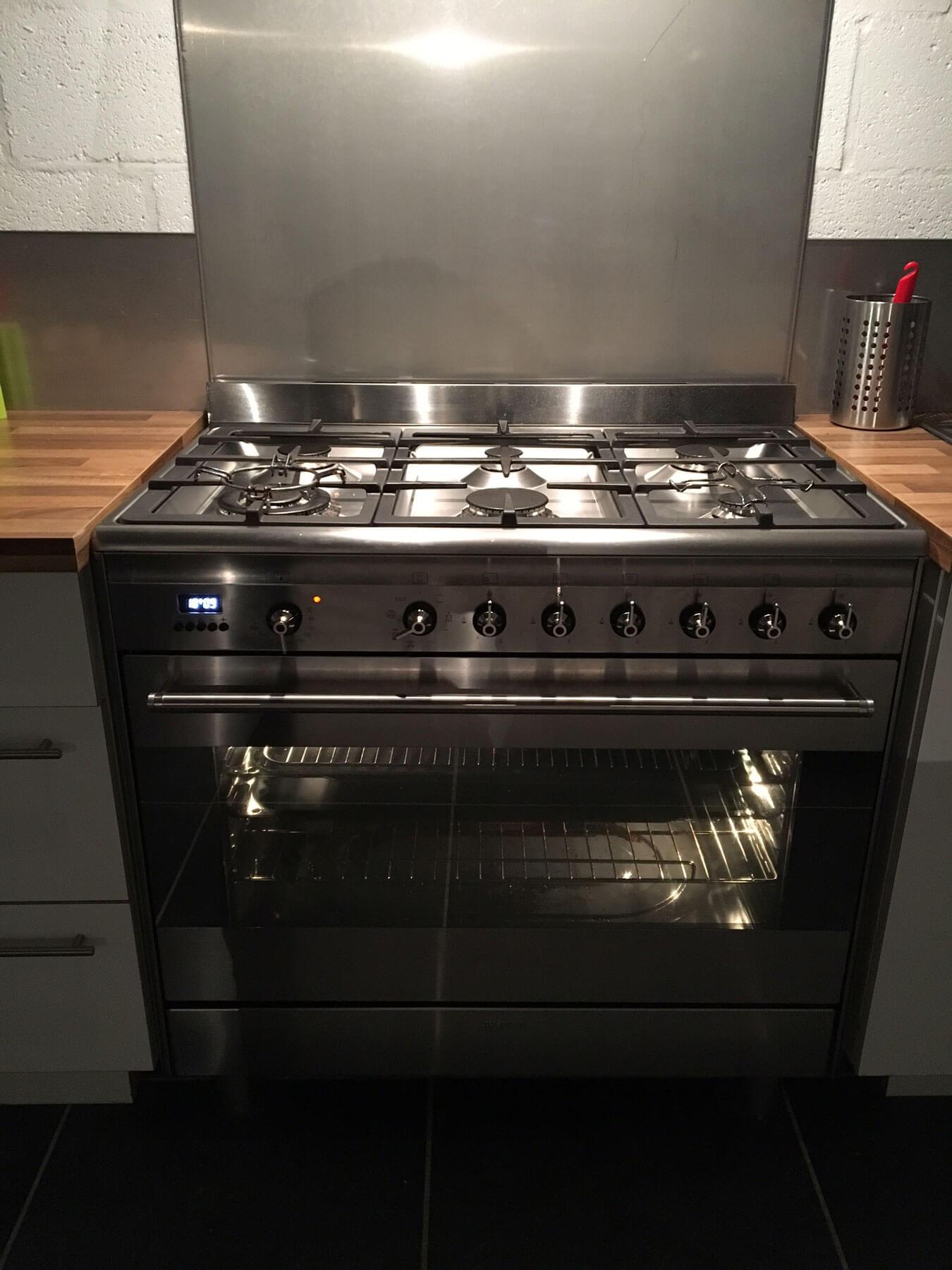 gasfornuis met grote oven
